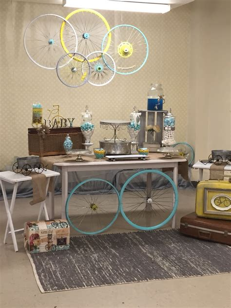 baby boy vintage bicycle shower fiesta de bicicletas