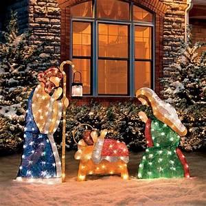 Improvements Set of 3 Shimmering Holy Family Nativity