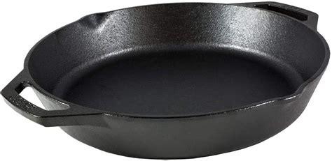 lodge lskl cast iron dual handle pan  inchblack