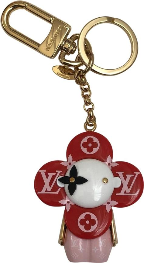 louis vuitton pink red vivienne giant monogram bag charm