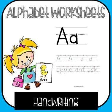 alphabet handwriting worksheets  images