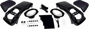 Hogtunes Black 6x9 Saddlebag Speaker Lid Kit 98