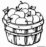 Coloring Apple Barrel Fruit Printable Apples sketch template