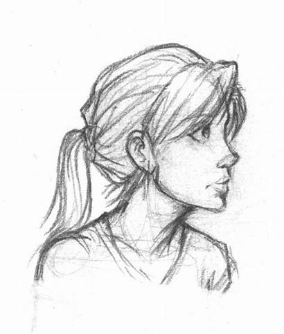 Profile Face Drawing Side Sketch Drawings Sketches