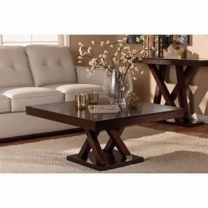 modern espresso coffee table dark brown wood furniture With large dark brown coffee table