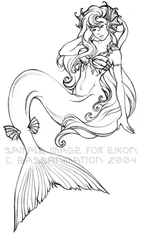 mermaid lineart  bassanimation  deviantart