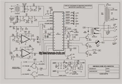 Sinewave Ups Circuit Using Picf Part