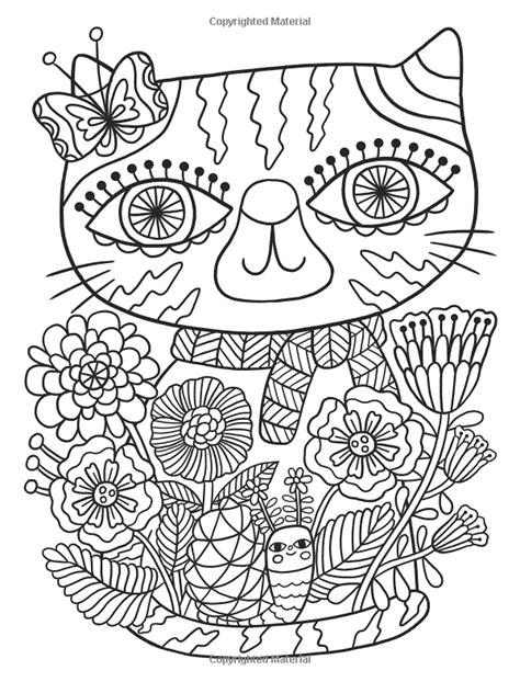 Amazon com: Posh Adult Coloring Book: Cats & Kittens for