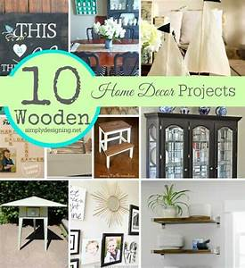 10, Diy, Home, Decor, Projects, Made, With, Wood