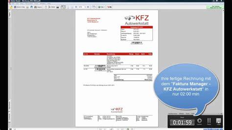 werkstatt software kfz faktura manager autowerkstatt