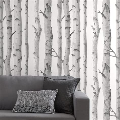 birch trees wallpaper double roll birch tree wallpaper