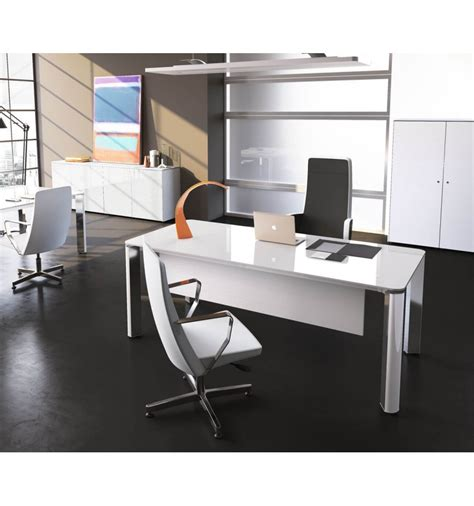 bureau de direction blanc bureau de direction iulio hg finition verre blanc