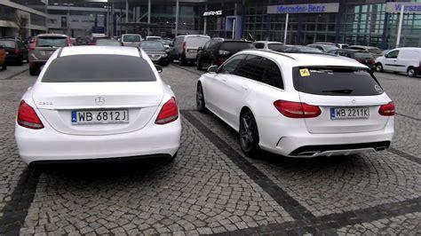 Sedan Vs Station Wagon by 2015 Mercedes C Class W205 Sedan Vs Wagon Amg Look