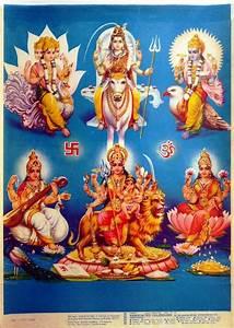 All Gods - Shiva Durga, Vishnu Lakshmi, Brahma Saraswati ...