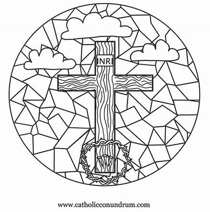Friday Coloring Adult Cross Printable Popular Stations