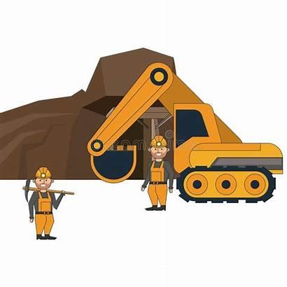 Backhoe Workers Retroexcavadora Lavoratori Cave Graphic Ming