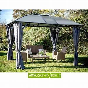 Tonnelle Terrasse : tonnelle aluminium de jardin gloriette terrasse ~ Melissatoandfro.com Idées de Décoration