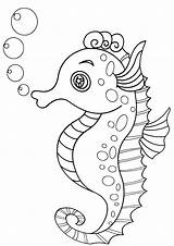 Coloring Sea Horse Pages Seahorse sketch template