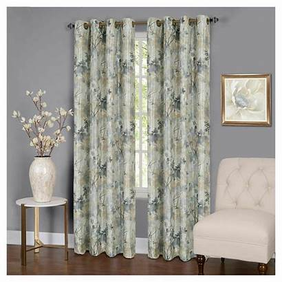 Curtains Blackout Grommet Lined Thermal Floral Assorted