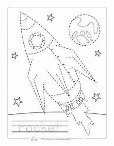 Space Tracing Worksheets - Itsy Bitsy Fun  Tracing