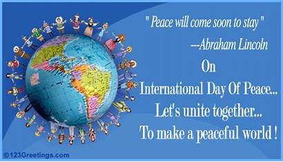 Peace International Unity Peaceful Quote Together Let