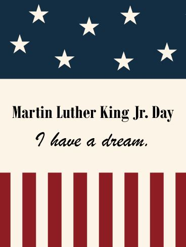 flag designed martin luther king day card birthday greeting cards