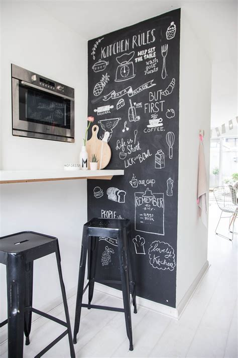 ardoise cuisine deco mur en ardoise l 39 astuce déco et pratique de la cuisine