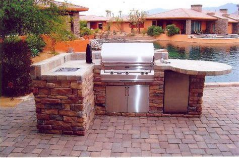 Build A Backyard Bbq by Outdoor Kitchens And Islands Coachella Valley Desert