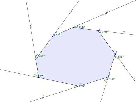 polygons exterior angle sum geogebra