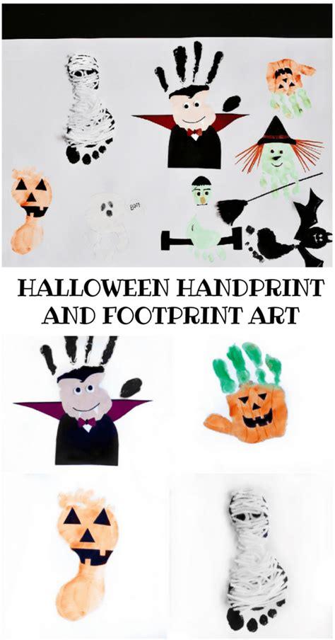 adorable halloween handprint  footprint art