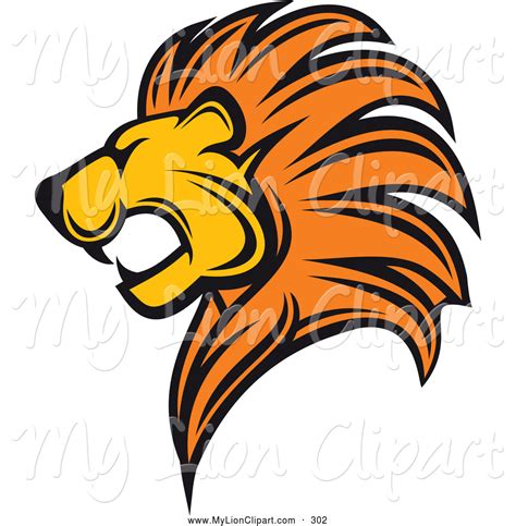 roaring lion head clipart collection