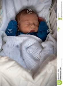 Cute Baby Boy Fast Asleep Inside His Crib Stock Photo ...