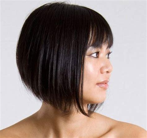 short hairstyles graduated bob hairstyle  asian girl