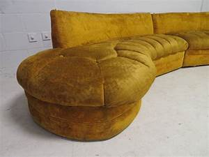 Gorgeous curved serpentine two piece adrian pearsall style for 2 piece curved sectional sofa