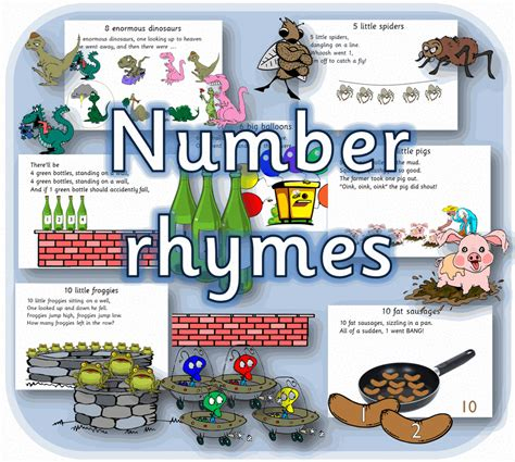 Number Rhymes Eyfs Maths Printable Early Years  Primary Teaching Resources Cd Ebay