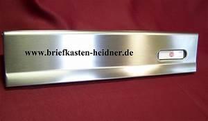 Renz Edelstahl Briefkasten : ith29 renz briefkastenklappe briefeinwurf 370 mm edelstahl mit namensschild www ~ Sanjose-hotels-ca.com Haus und Dekorationen
