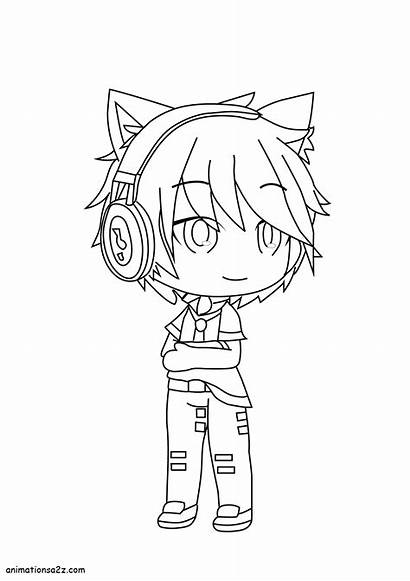 Gacha Coloring Pages Boy Boys