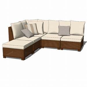 Palmetto honey sectional sofas 3d model formfonts 3d for Sectional sofa revit