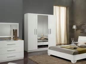 Armoire Chambre Blanche 4 Portes by Armoire 4 Portes Laqu 233 E Blanche