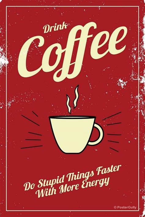 Shop allposters.com to find great deals on coffee posters for sale! Popular Art Prints and Decorative Items Online | Coffee Energy Vintage - PosterGully