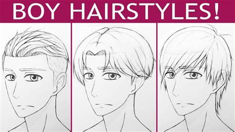 draw  manga boy hairstyles youtube