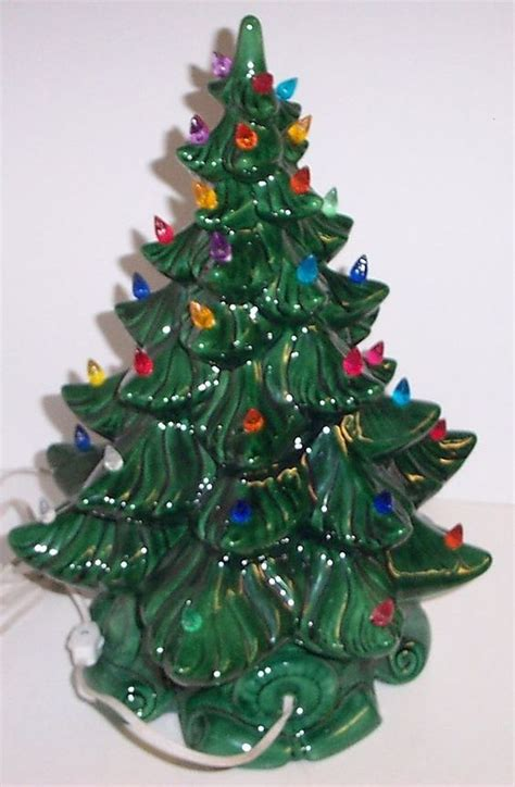 green ceramic christmas tree with lights vintage lighted bulbs ceramic christmas tree atlantic mold
