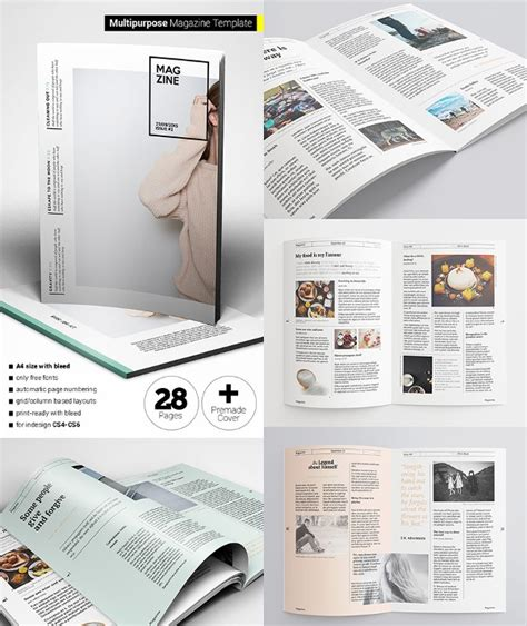 creative magazine print layout templates