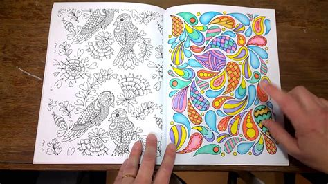 The Art Of Mindfullness Colouring Book. Finished Pages