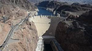 Aerial View Hoover Dam Producing Hydroelectricity Colorado ...
