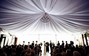 tips on where to use fabric draping at your wedding venue With parachute rental for wedding decor