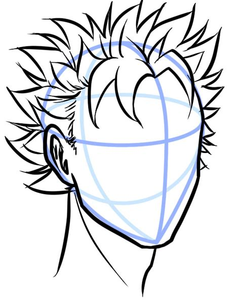 Is well, i was trying to draw a younger luxord (from kh2, if you're wondering), and um, later on, i realized that it looked. Images Of Spiky Anime Hairstyles Male