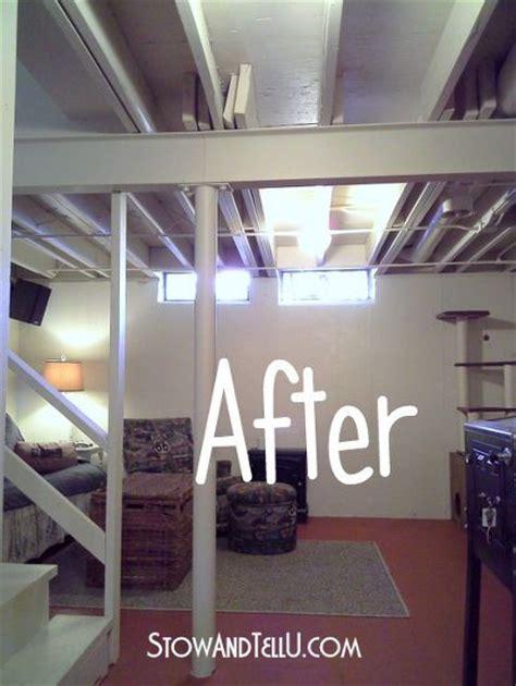 exposed basement ceiling lighting ideas best 20 exposed basement ceiling ideas on