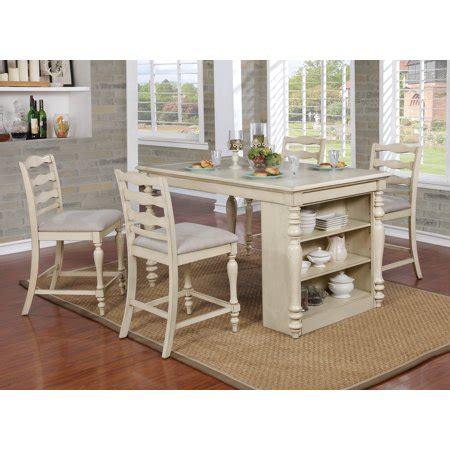 furniture  america wilson rustic counter height usb