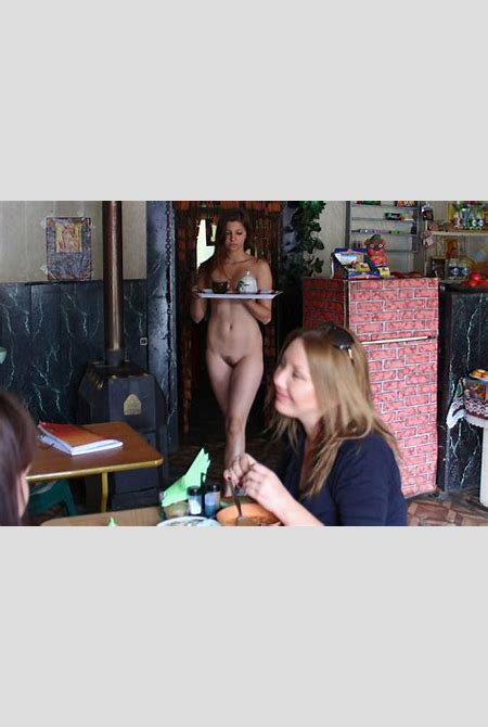 Young naked waitress at a roadside cafe | Russian Sexy Girls